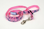 Floral Denim Pink Leash