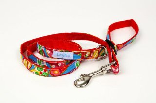 Hawaiian Flip Flop Blue(Red) Leash